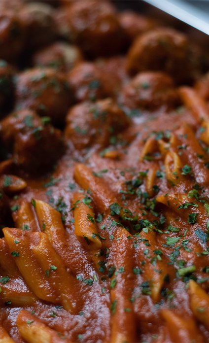 penne-meatballs-catering